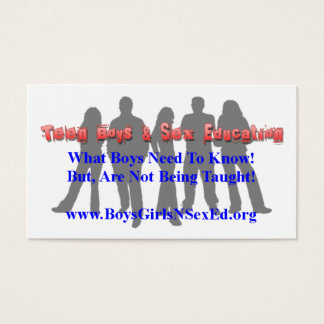 Meninos adolescentes & gravidez adolescente cartão de visitas