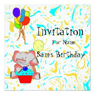 meninos do aniversário do convite de festas dos
