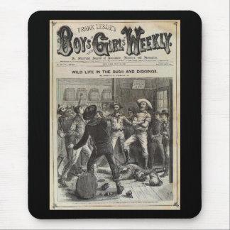 Meninos e meninas 1880 semanal mouse pad