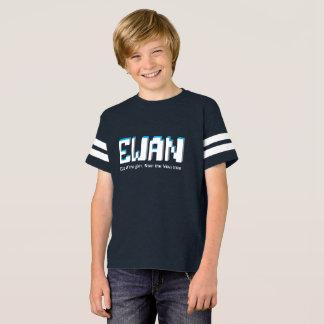 Meninos nome de Ewan e texto dos pixéis do Tshirts