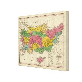 Menor de Ásia Antiqua Impressão De Canvas Esticada