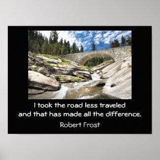 Menos da estrada viajada - impressão da arte