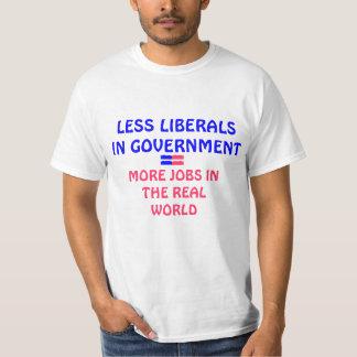 Menos liberais camisetas