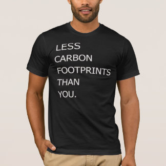 Menos pegadas do carbono do que você tshirt