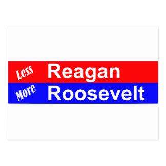 Menos Reagan mais Roosevelt horizontal Cartão Postal