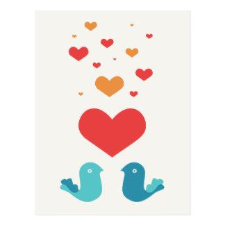 Mensagem do amor cartao postal