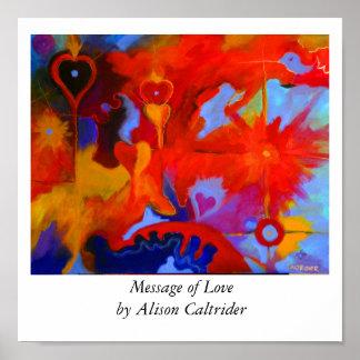 Mensagem do amor mensagem de Loveby Alison Caltr… Pôsteres