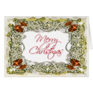 Mensagem elegante do cumprimento do Natal Cartoes