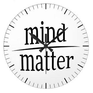 Mente sobre a fração inspirador da palavra da relógios de pendurar