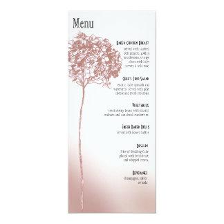 Menu barroco do comensal de Flowerball - mulberry Convites