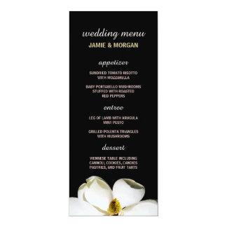 "Menu bonito do casamento da magnólia convite 10.16"" x 23.49cm"