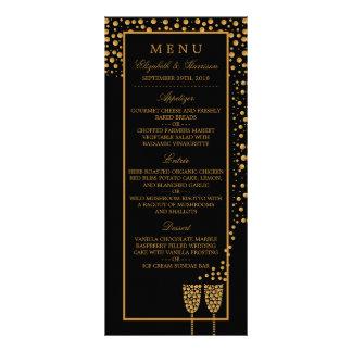 Menu da festa de noivado das bolhas de Champagne 10.16 X 22.86cm Panfleto