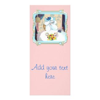 Menu do cartão da cremalheira do tea party do cupc panfleto personalizado