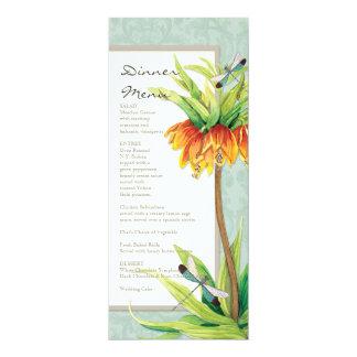 Menu formal do comensal da libélula elegante do convites personalizado