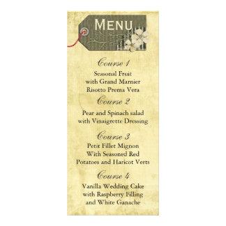 menu rústico do casamento do frasco de pedreiro do panfleto informativo