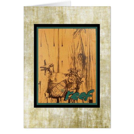 Menu velho clássico de Tiki do meio século! Cartão Comemorativo