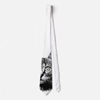 Meow preto & branco do gato mão bonito do gatinho gravata
