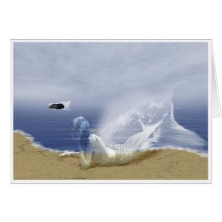 Mer fantasma cartão