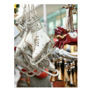 Mercado do Natal que compra a cena festiva Cartão Postal