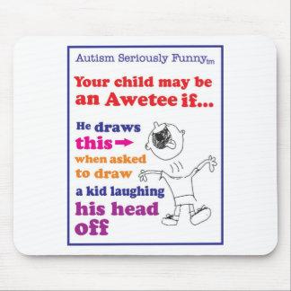 Mercadoria seriamente engraçada do autismo mousepads