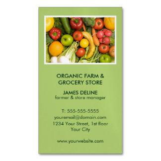 Mercearia orgânica verde moderna da fazenda