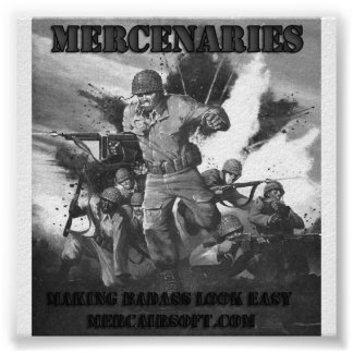 MERCs faz o olhar de Badass fácil Posters