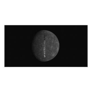 mercúrio escuro cartão com foto personalizado