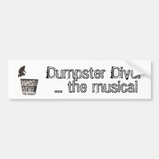 Mergulhador do contentor… o bumpersticker musical adesivo para carro