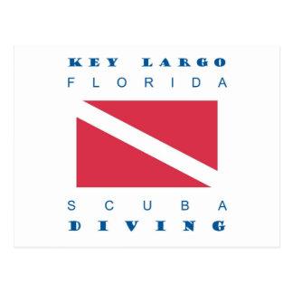 Mergulho chave do mergulhador de Florida do Largo Cartões Postais