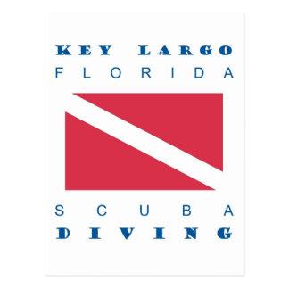 Mergulho chave do mergulhador de Florida do Largo Cartão Postal