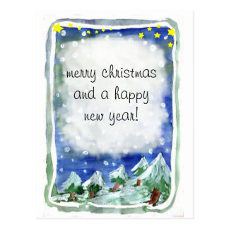 Merry Christmas and a Happy Year New! Cartão Postal