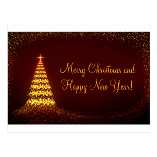 Merry Christmas and Happy Year New! Cartão Postal