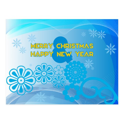 Merry Christmas and Happy Year New Cartoes Postais