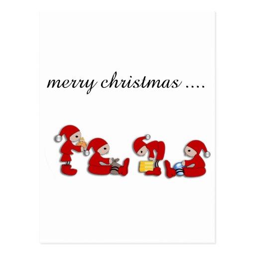 merry christmas cartao postal