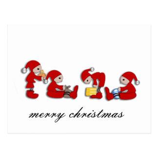 merry christmas cartoes postais