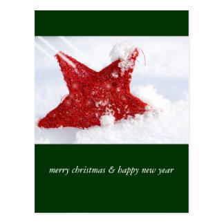 merry christmas & happy new year cartões postais