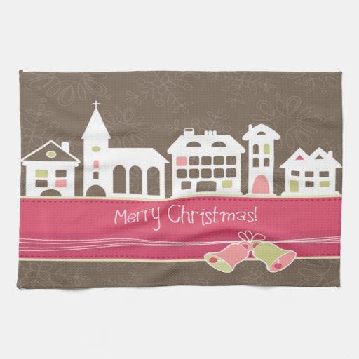 Merry Christmas Kitchen Towel Toalha De Mão