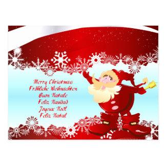 Merry Christmas natais Joviais Buon Natale Cartao Postal
