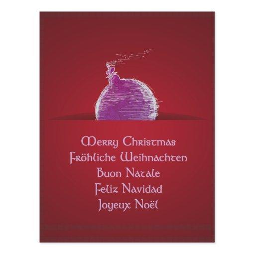Merry Christmas natais Joviais Buon Natale Cartoes Postais