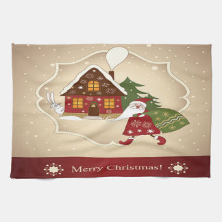 Merry Christmas Noel Kitchen Towel Toalha
