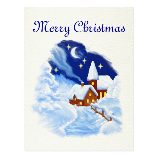 Merry Christmas Postcard Cartão Postal