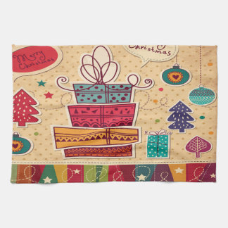 Merry Christmas Presents Kitchen Towel Toalha
