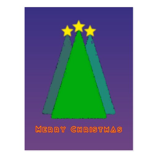 Merry Christmas tree Cartões Postais