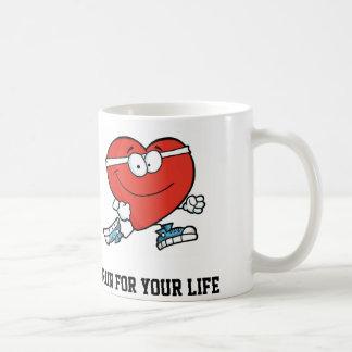 Mês americano do coração funcionado para sua vida caneca