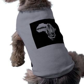 Mês preto da história - AMANDLA! Camisa Sem Mangas Para Cachorro