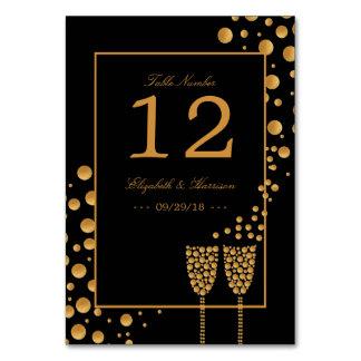 Mesa da festa de noivado das bolhas de Champagne