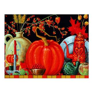 Mesa festiva do outono cartão postal