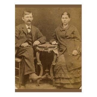Mesa para dois cartão postal