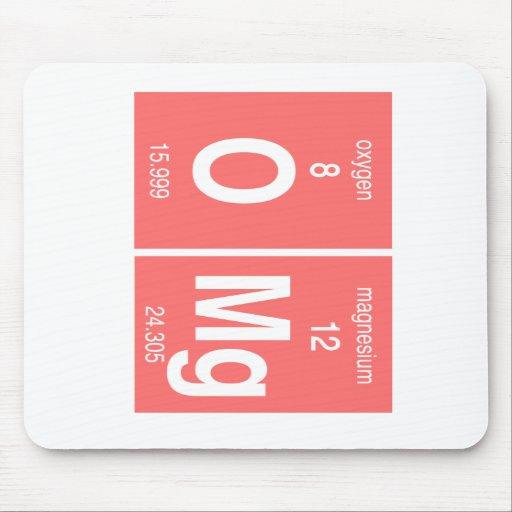 """Mesa periódica engraçada """"OMG """" Mouse Pad"""
