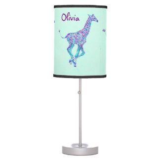 mesa personalizable do girafa azul, roxo, verde